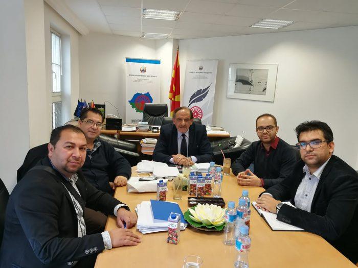 """Претставници на """"Khetane"""" на средба со министерот Самка Ибраимоски"""